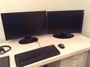 The desk has only ever been this clean once before. When I set it up.