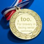 Medal for Sara, copy-editor queen, who added and removed close on 2,000 commas. We'll do better next time, we promise.