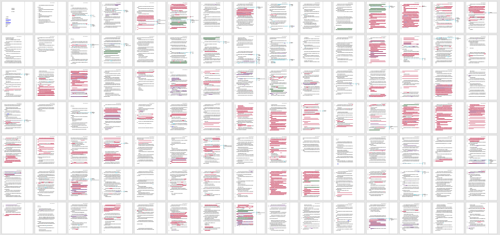 The edits on the first hundred pages of Confluence.