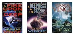 Vernor Vinge's Zones of Thought series.